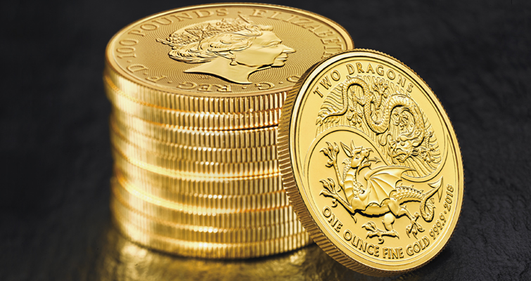 Royal Mint issues Two Dragons design on gold bullion