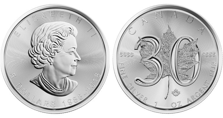 2018-canada-5-dollar-30th-anniversary-maple-coin