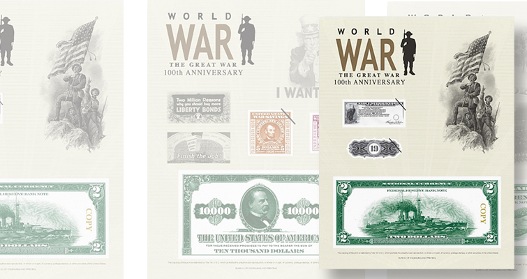 BEP offers three World War I Centennial prints in 2018 intaglio program