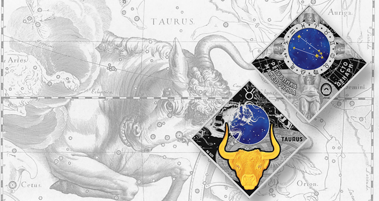 Macedonia shows Taurus on new Zodiac signs silver coin