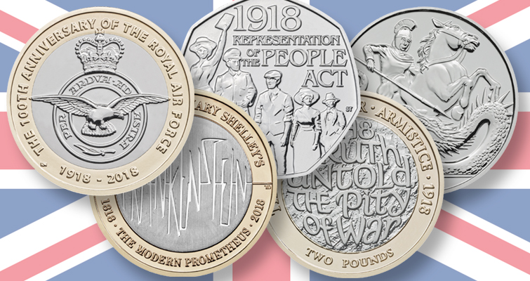 Royal Mint reveals 2018 commemorative coin themes