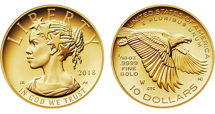 2018-W American Liberty Tenth-ounce gold Proof merged
