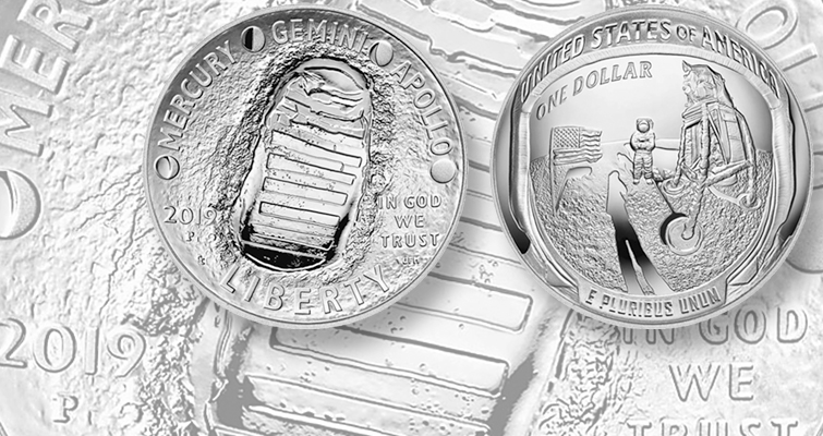 Apollo 11 commemorative coins launched in first-strike ceremony