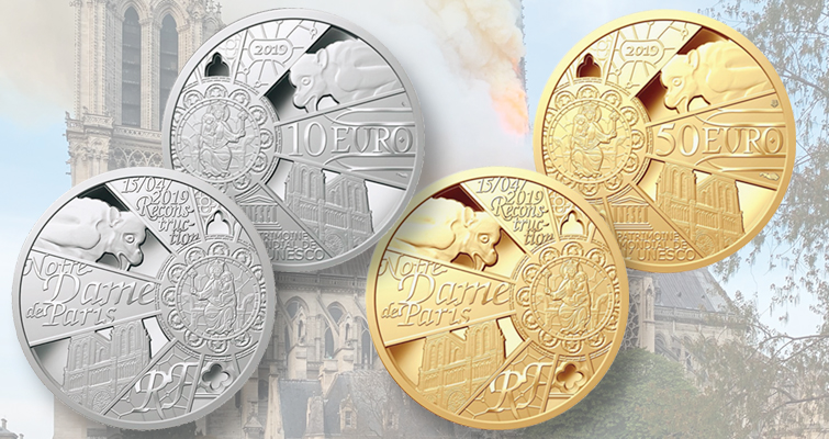 Limited edition three coins released by the Paris Mint