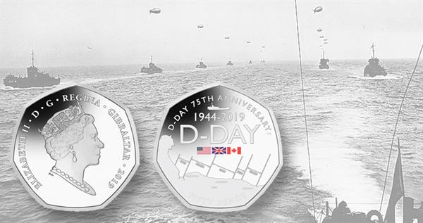 2019-gibraltar-d-day-50-penny-colored-coin