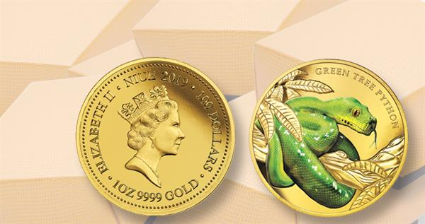 2019-niue-100-dollar-green-tree-python-gold-coin