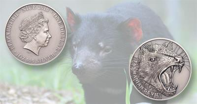 2019-niue-tasmanian-devil-silver-antique-coin