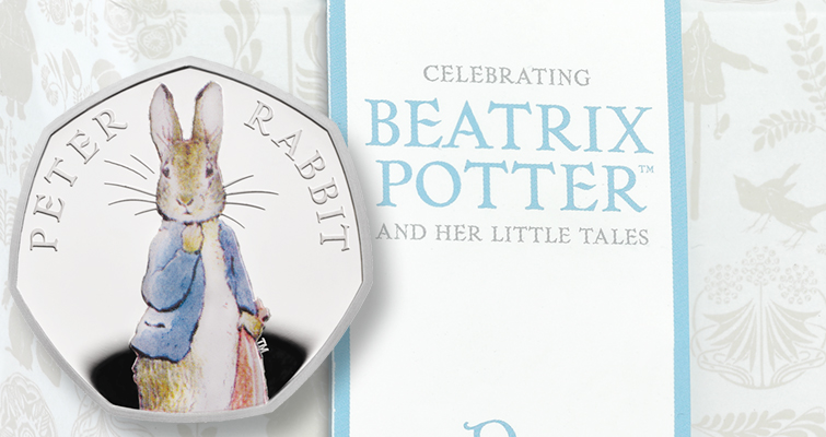 Peter Rabbit restricted to collector 50-penny coins for 2019