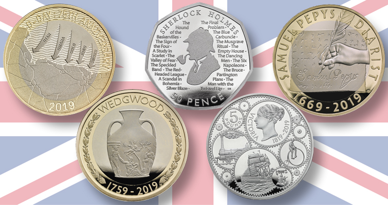 UK reveals themes for 2019 commemorative coin program