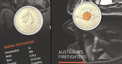 Royal Australia Mint firefighters coin