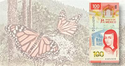 2020 polymer 100-peso Bank of Mexico note