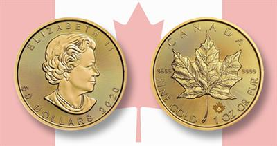 2020 gold one ounce Maple Leaf