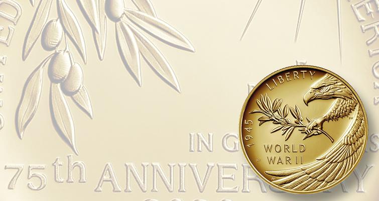 End of World War II gold $25 coin