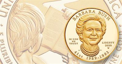 2020 First Spouse Barbara Bush gold
