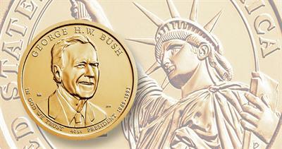 George H.W. Bush presidential dollar