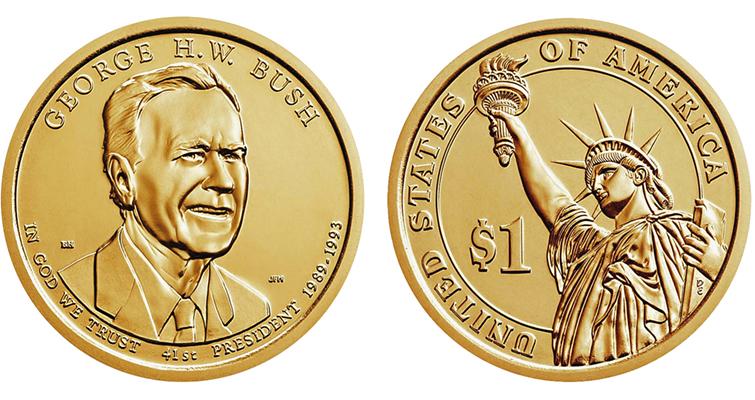 2020 George H.W. Bush presidential dollar