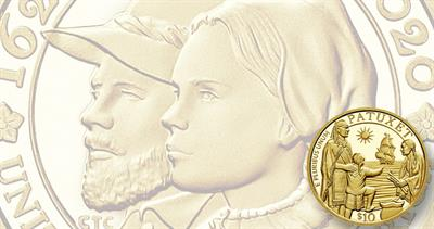 Mayflower Proof gold coin set