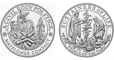 2020 Mayflower Proof silver medal