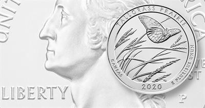 2020-P quarter dollar for Kansas