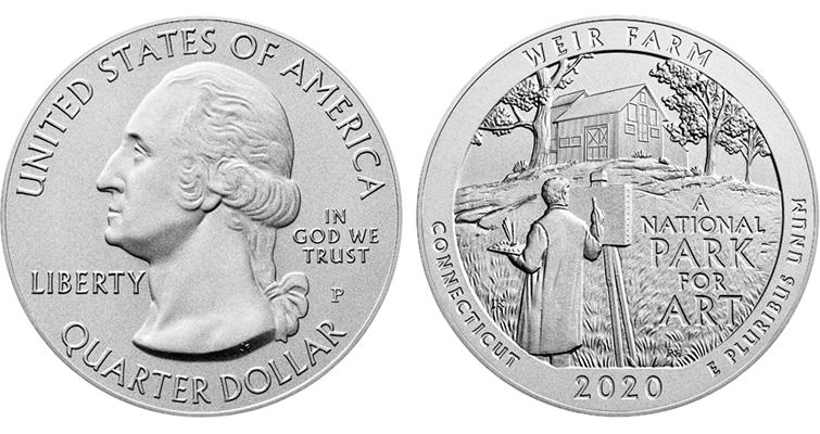2020-P silver five-ounce ATB quarter