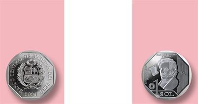 Peru bicentennial independence coin