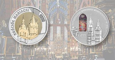 Poland church coins