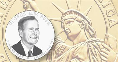 2020 George H.W. Bush presidential dollar