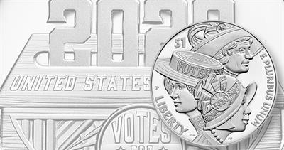 2020 Suffrage Proof dollar