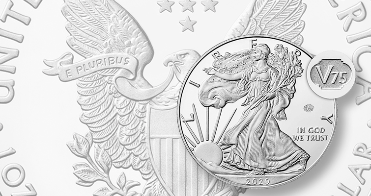 2020 End of WWII silver American Eagle