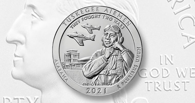 2021 five ounce silver Tuskegee Airmen quarter