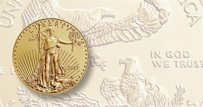 Gold American Eagle bullion for 2021
