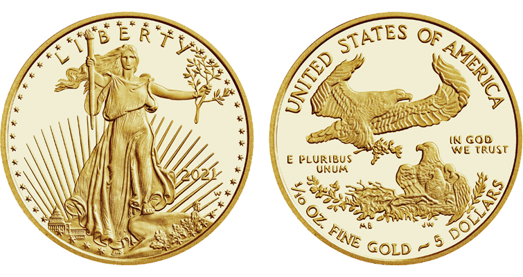 Reverse of 1986 American Eagle gold