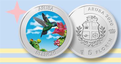 2020 5-florin hummingbird coin