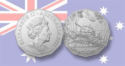 Australia Vietnam battle 50-cent coin