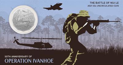 Australia 2021 Battle of Nui Le 50-cent commemorative
