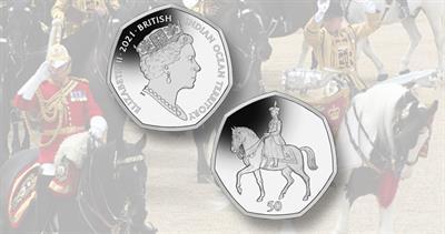British Indian Ocean Territory 50-penny silver