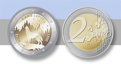 2021 Estonia two-euro wolf commemorative