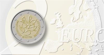 2021 two-euro circulating commemorative for Finland