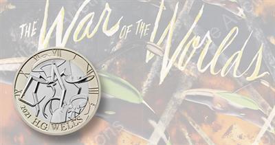 2021 H.G. Wells coin