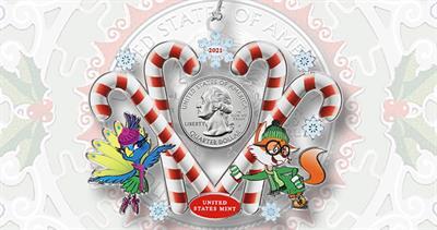 2021 Mint ornaments