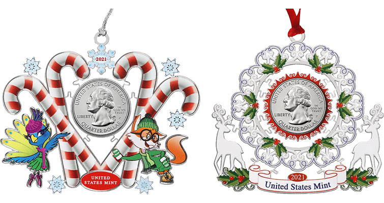 Mint ornaments for 2021