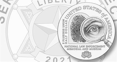 Law Enforcement clad half dollar