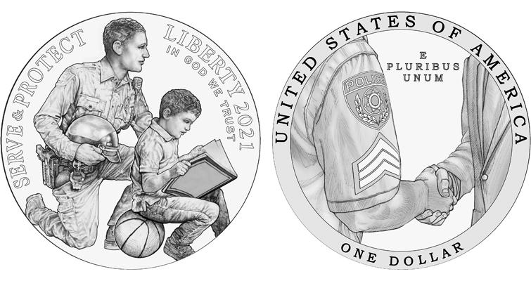 Law Enforcement silver dollar