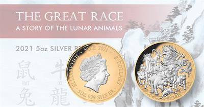 2021 Niue Zodiac race silver $8