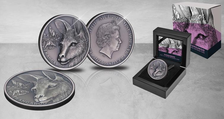 2021 Niue silver dollar kangaroo