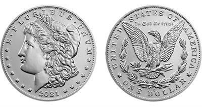 2021-O Morgan dollar