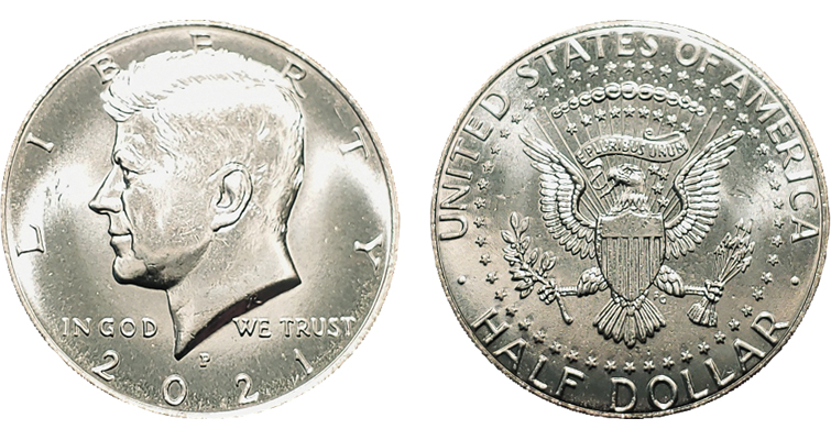 2021-P Kennedy half dollar