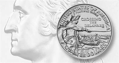 2021-P Washington Crossing the Delaware quarter dollar