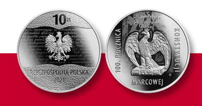Poland constitution centennial 10-zloty coin