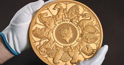 Queen's Beasts on 10-kilogram Royal Mint coin